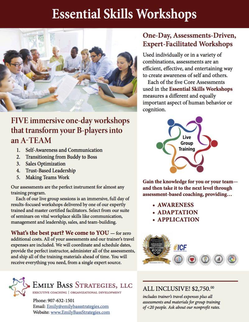 Essential Skills Workshops
